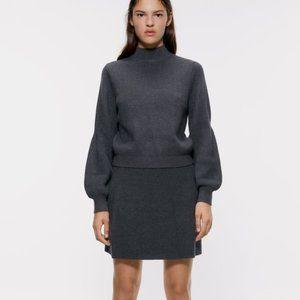 NWT Zara Grey Mock Neck Sweater